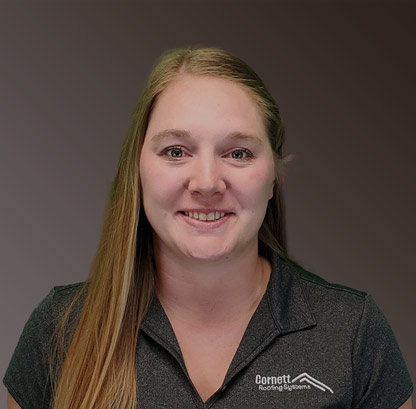 Hanna Brown, Marketing Manager for Cornett Roofing