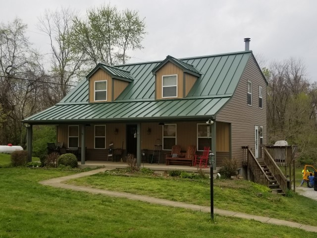 Standing Seam roof installed on home in Forest Green