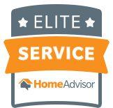 Elite Service badge from HomeAdvisor