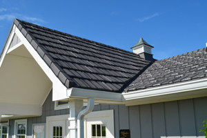 Metal Shake Series roof installed on golf pro shop