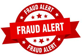 Graphic that says Fraud Alert