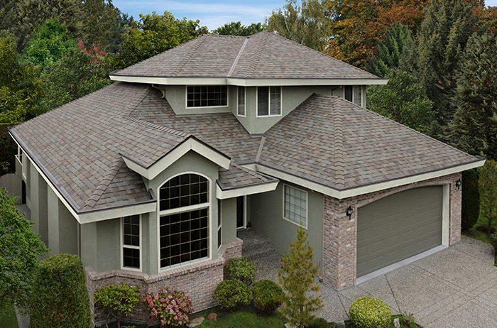 Mularkey shingles installed on split level home