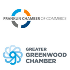 Logos for Franklin and Greenwood Chambers of Commerce
