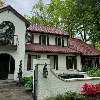 red metal tile roof in carmel indiana