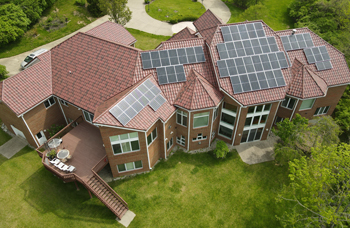 Large Cincinnati home with Metal Tile and Solar Installed
