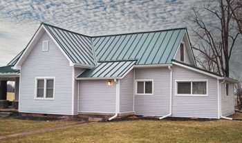 house with metal roof in columbus indiana