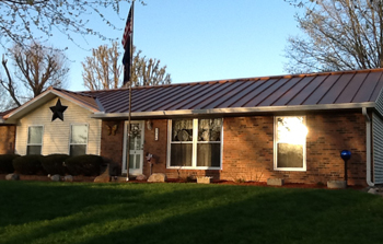 house in greenwood in with metal roof