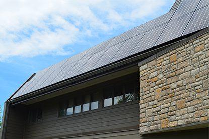 solar panel on modern home